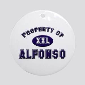 Property of alfonso Ornament (Round)