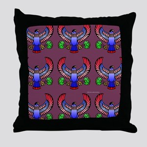 Heru Falcon Throw Pillow