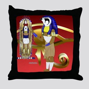Horus Cartouche Magic Throw Pillow
