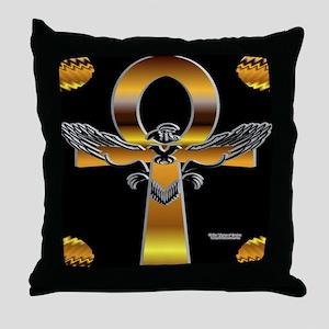 Heru Ankh Throw Pillow