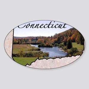 ConnecticutMap28 Sticker (Oval)