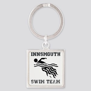 InnsmouthSwimTeam_distressedk Square Keychain