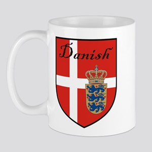 Danish Flag Crest Shield Mug