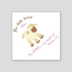 "His little lamb Chloe blank Square Sticker 3"" x 3"""