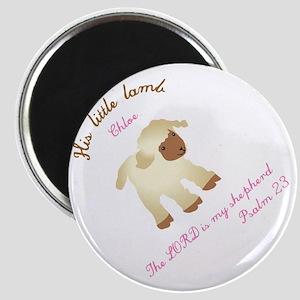His little lamb Chloe blanket Magnet