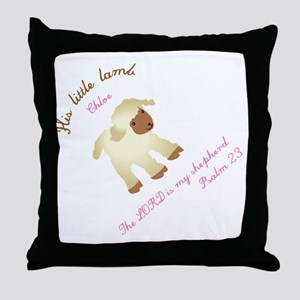 His little lamb Chloe blanket Throw Pillow