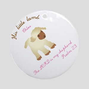 His little lamb Chloe blanket Round Ornament