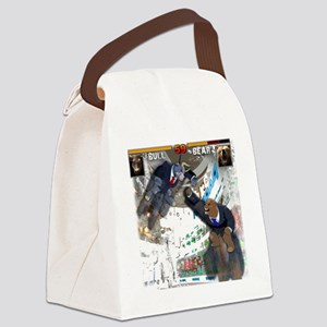 bull bear video game Canvas Lunch Bag