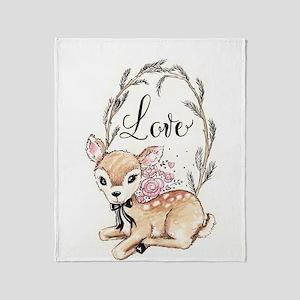 Love Deer Throw Blanket