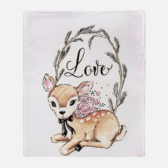 Love Deer Throw Blanket