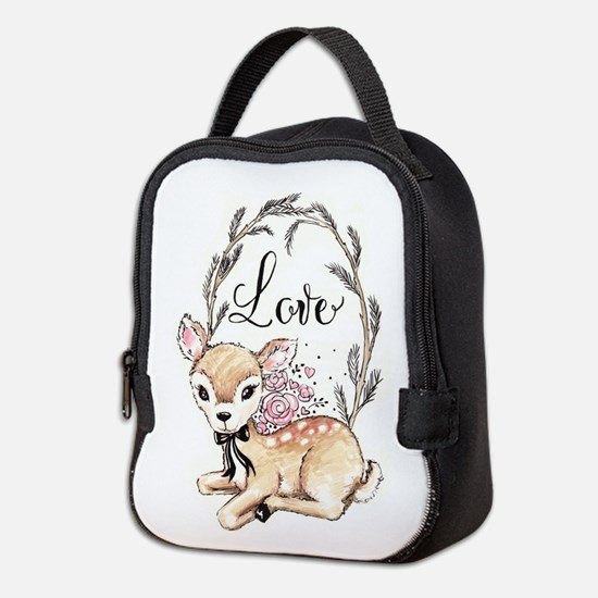 Love Deer Neoprene Lunch Bag