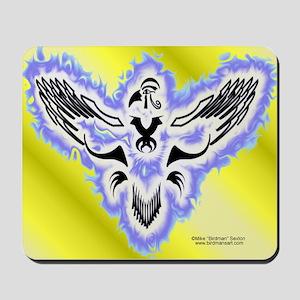Tribal Aqua Horus Mouse Pad