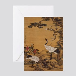 Crane greeting cards cafepress cranes woodblock print ipad case greeting card m4hsunfo