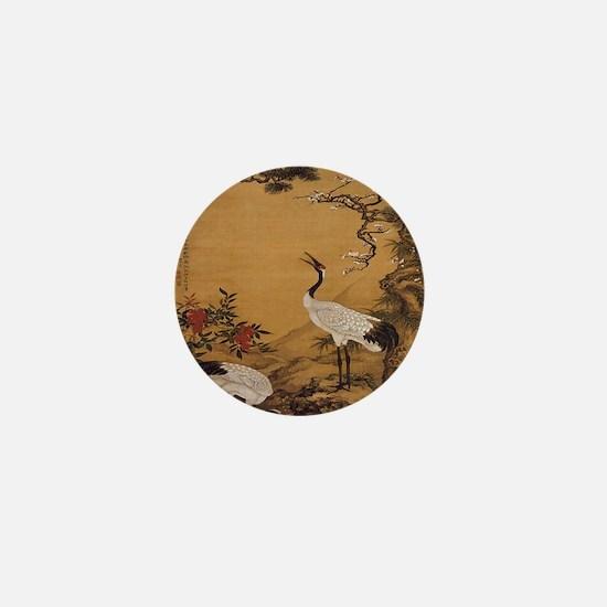 cranes-woodblock-print-iPad-case Mini Button