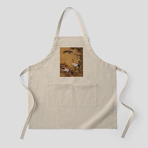 cranes-woodblock-print-iPad-case Apron