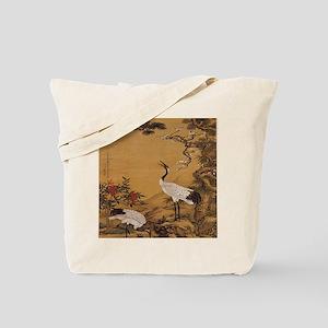 cranes-woodblock-print-iPad-case Tote Bag