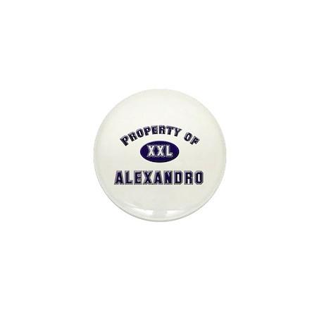 Property of alexandro Mini Button