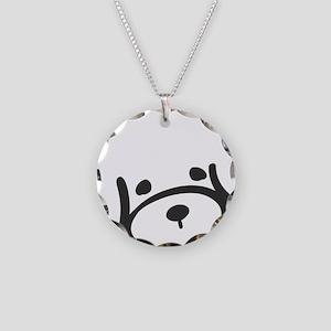 bichon_face Necklace Circle Charm