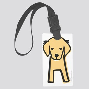 golden_retriever Large Luggage Tag