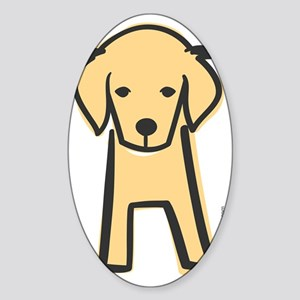 golden_retriever Sticker (Oval)