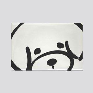 bichon face Rectangle Magnet