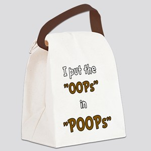 Oops in Poops Canvas Lunch Bag
