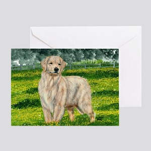 golden amelia Greeting Card