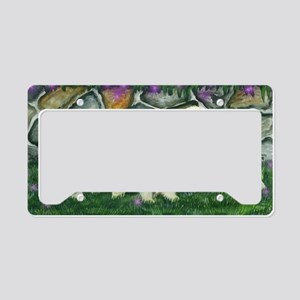 golden puppies License Plate Holder