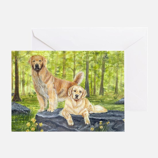 golden pair Greeting Card