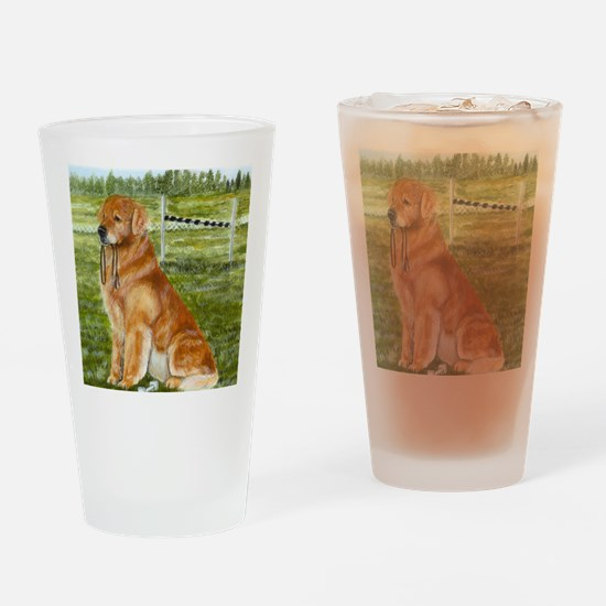 golden obedience Drinking Glass