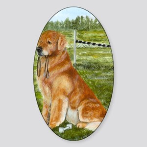 golden obedience Sticker (Oval)