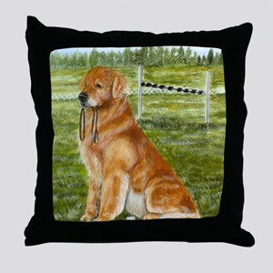 golden obedience Throw Pillow