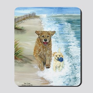 Golden Surf runners Mousepad