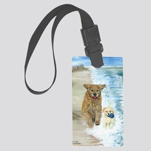 Golden Surf runners Large Luggage Tag