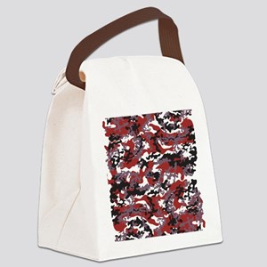 Red Camo Canvas Lunch Bag