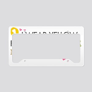 Yellow1 License Plate Holder