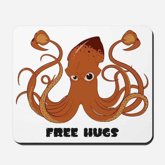Free Hugs Giant Squid Mousepad