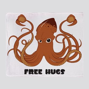 Free Hugs Giant Squid Throw Blanket
