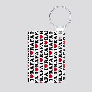443 Rafa Love Aluminum Photo Keychain