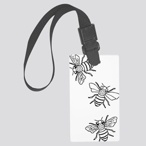 Honey Bees Large Luggage Tag