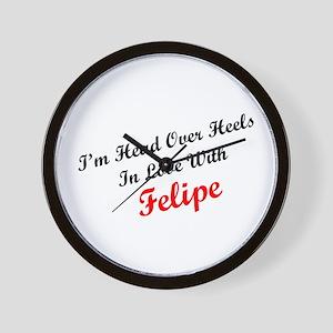 In Love with Felipe Wall Clock