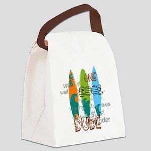 Surfing art Canvas Lunch Bag