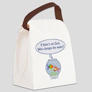 iftheresnogodfishbowl1500 Canvas Lunch Bag