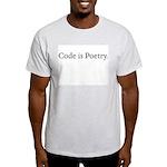 Ash Grey Code is Poetry T-shirt