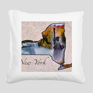 NewYork Square Canvas Pillow