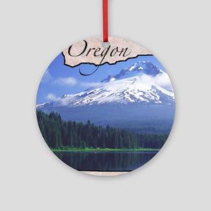 Oregon Round Ornament