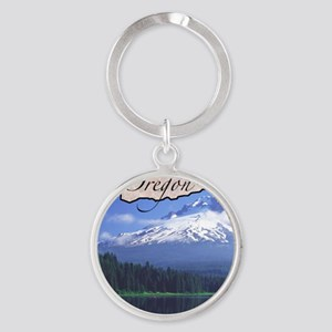 Oregon Round Keychain