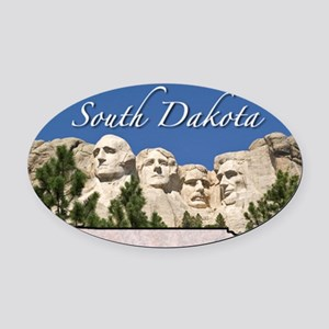 SDakota Oval Car Magnet