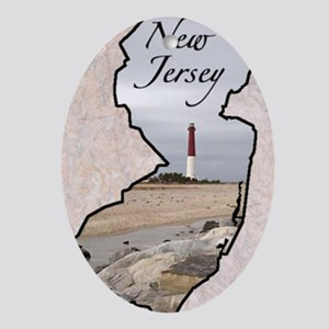 New-Jersey Oval Ornament
