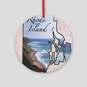 Rhode Island Round Ornament